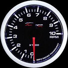 52mm Depo Racing Tachometer Gauge tach glow prosport WS-W5293B smoked