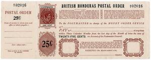 I-B-British-Honduras-Revenue-Postal-Order-25c