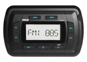 Pyle-Marine-Bluetooth-Radio-Receiver-Water-Resistant-Stereo-Headunit-USB-AUX