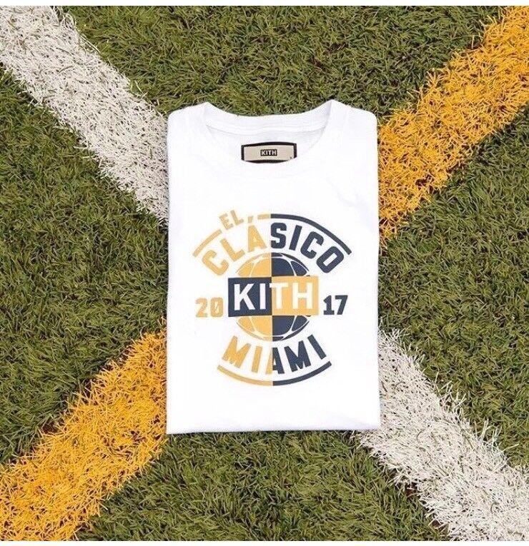 Kith x El Clasico Logo T-Shirt White gold NWT Sz XL