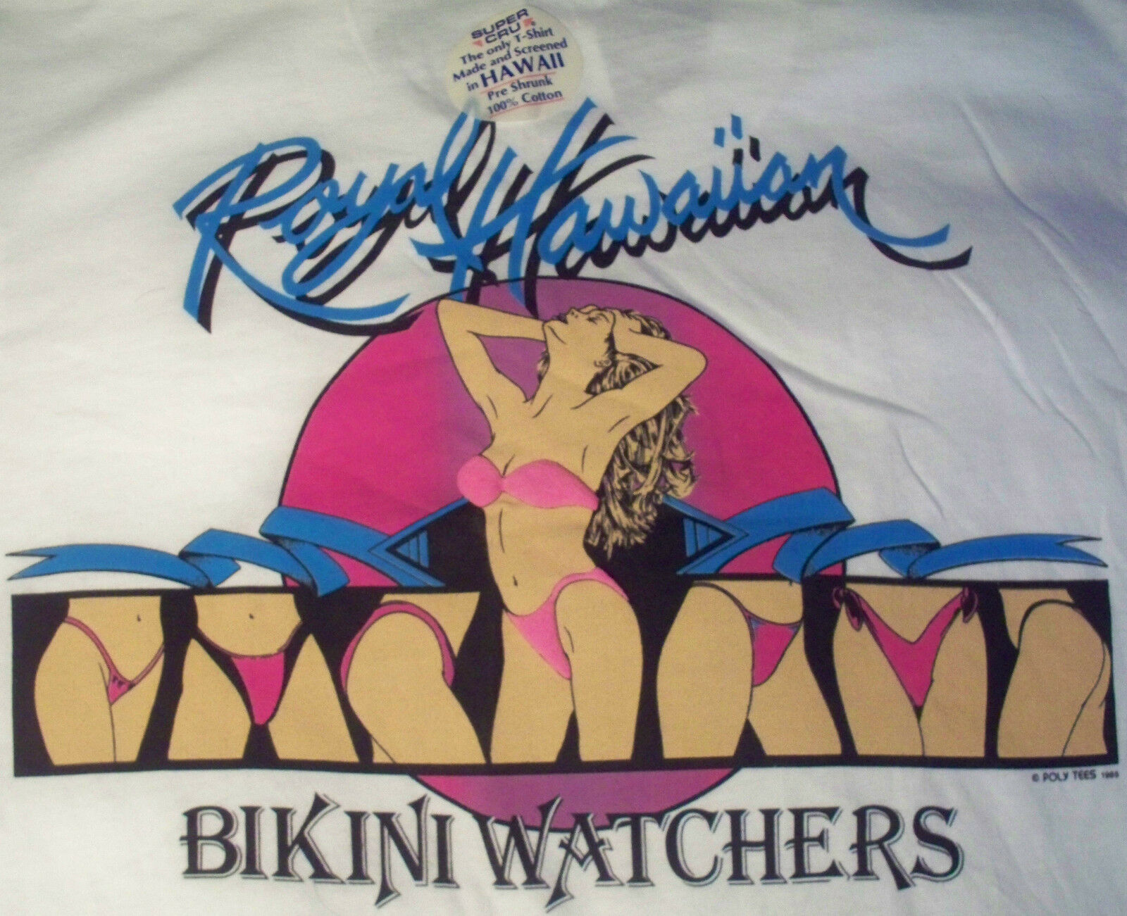 Royal Hawaiian Bikini Watchers vtg t shirt Member 1985 UNUSED mens size XL