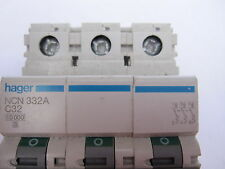 HAGER NCN332A - Type C - 32 Amp - 3-Phase -10 kA - Miniature Circuit Breaker