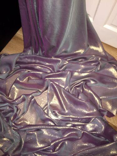 """58 /""""wide £ 2,49 1 mtr qualité vert rose Shimmer mousseline tissu.."""