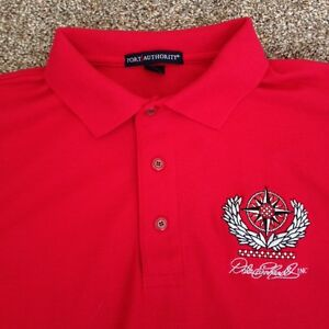 Rare Dale Earnhardt Inc. Pit Crew Team Member Medium Red Long Sleeve Polo Shirt