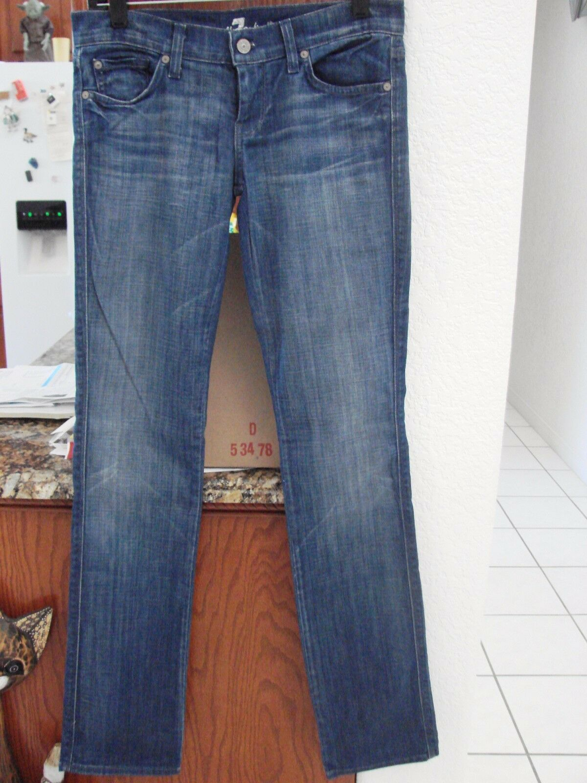7 For All Mankind  bluee Straight Leg Edie Jeans Size 26 Stretch MSRP  NWOT
