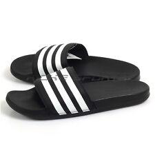 7d3b2264228e Adidas Adilette CF+ Slide Sandals Lightweight Slippers Black White Black  AQ4935