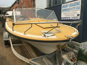 STEBER-DF500-FISHERMAN-RUNABOUT-HULL-amp-ACCESSORIES-Project-NO-MOTOR-OR-TRAILER
