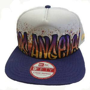 the latest 68355 989a3 Image is loading New-Era-9FIFTY-NBA-Paint-Over-Los-Angeles-