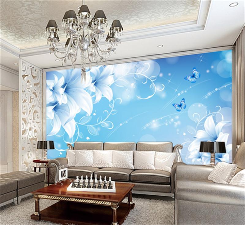 3D 3D 3D Blau Flowers Light 838 Wallpaper Mural Paper Wall Print Wallpaper Murals UK 28cfb3