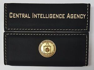 Cia central intelligence agency black leather hard case business image is loading cia central intelligence agency black leather hard case reheart Image collections