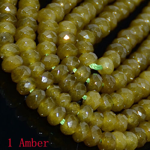"""2*4mm Mulitcolor Faceted Agate Round Gemstone Loose Beads 16/"""" Finding Diy Craft"""