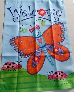 Decorative-Garden-Flag-12-1-2-039-x-18-034-WELCOME-BUTTERFLY-FRIENDS