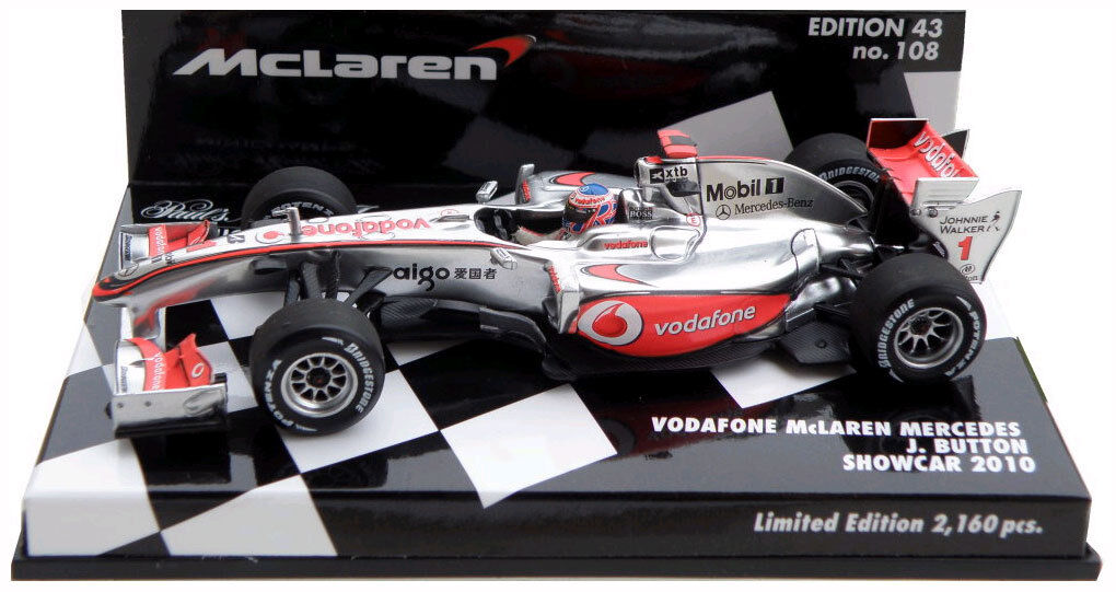 Minichamps McLaren Mercedes Showcar 2010 - Jenson Button 1 43 Scale