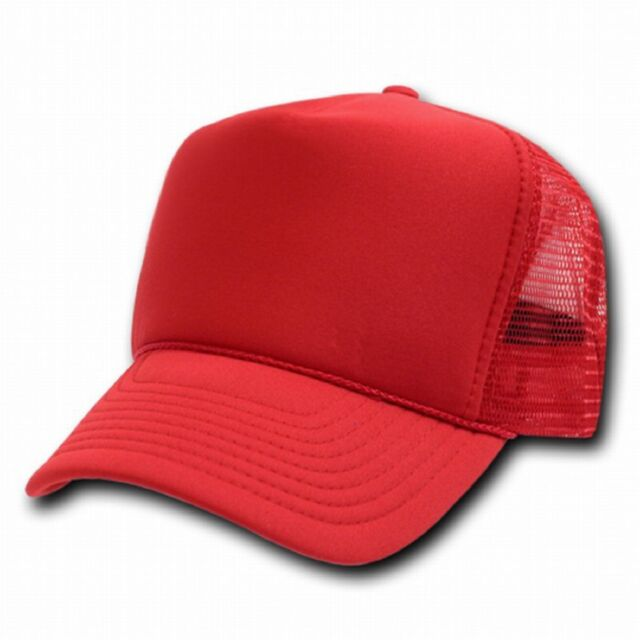 Solid Red Classic Mesh Foam Trucker Vintage Baseball Hat Hats Cap Caps 35  COLORS 68830922d0f