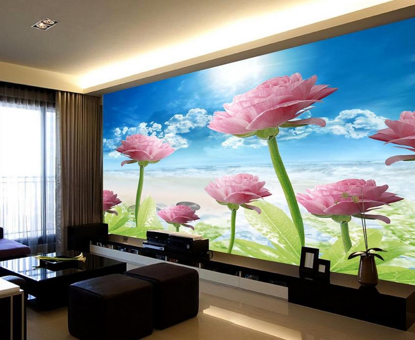 3D Wolken Sonne Blaume 8 Tapete Wandgemälde Tapete Tapeten Bild Familie DE Summer
