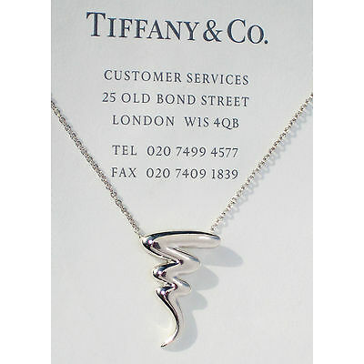 Tiffany & Co Paloma Picasso Sterling Silver Scribble Zig Zag Necklace
