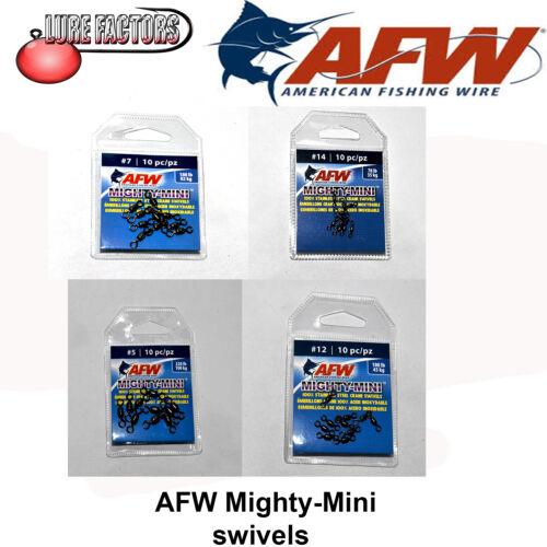 AFW Mighty-Mini Swivels x 10 swivels pike rigs zander perch