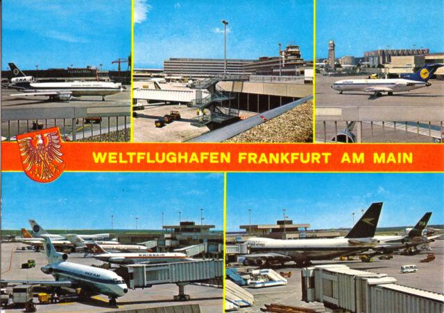 AK, Frankfurt am Main, Flughafen, fünf Abb., um 1980
