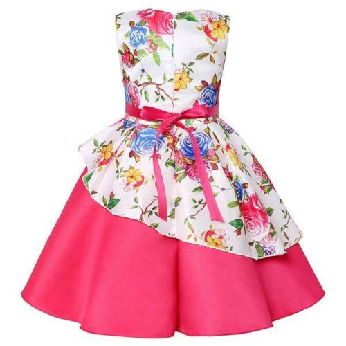 Baby kid girl wedding dresses party tutu princess dress flower formal bridesmaid