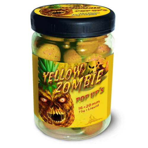 11,24EUR//100g Radical Pop Ups Boilie Yellow Zombie Pop Up's 16mm//20mm 75g
