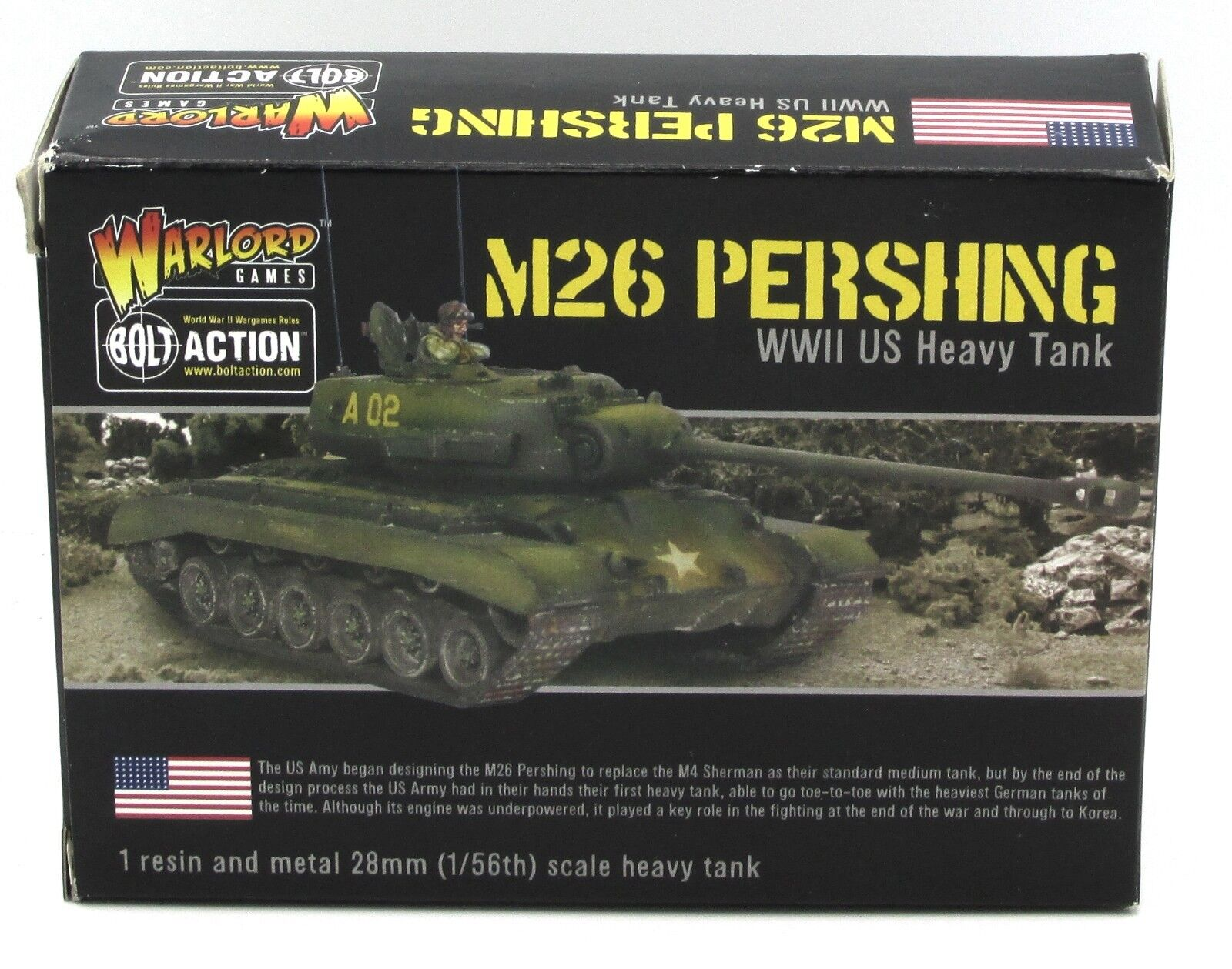 Bolt Action WGB-AI-127 M26 Pershing (WWII US Heavy Tank) Warlord Games Vehicle