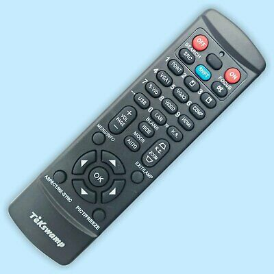 TeKswamp Video Projector Remote Control for Hitachi CP-X5022WN Black