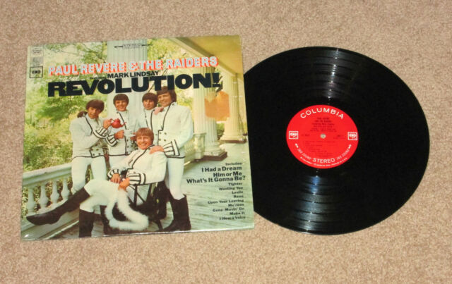 ROCK PAUL REVERE AND THE RAIDERS REVOLUTION MARK LINDSEY LP RECORD VG+