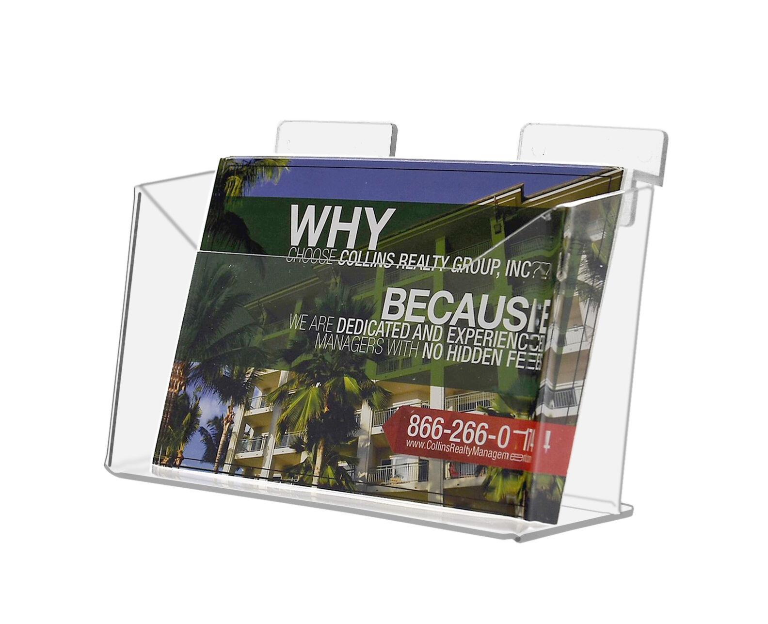 Lot of 6 NEW Clear Acrylic Slatwall Postcard Holder Display Stand Postcard USA