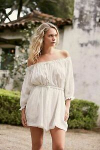 Competent Free People Cool Off Romper Dress Endless Summer Off The Shoulder M New 212712