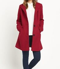 BNWT Ladies Red Textured Dolly Coat SOUTH - sz 8