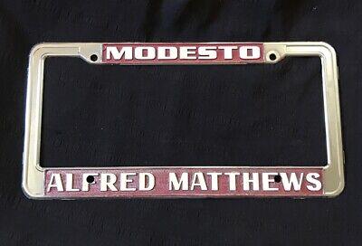 modesto california alfred matthews vintage dealer gmc buick license plate frame ebay ebay
