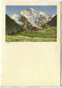 VINTAGE JUNGFRAU BERNESE ALPS SWITZERLAND BERN VALAIS LITHOGRAPH COLOR PRINT B