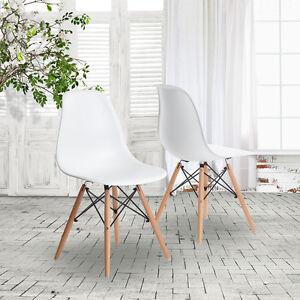 Lot-de-4-chaises-retro-eiffel-Mobilier-Moderne-Blanc-chaise-de-salle-a-manger