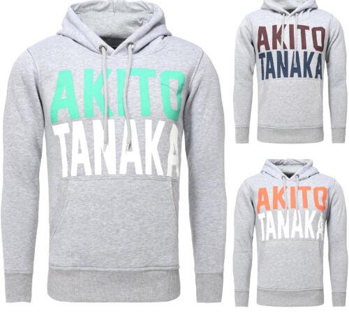 Akito Tanaka Messieurs Pull Manches Longues Sweat Avec Capuche Skate Gris