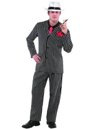 Adult Vintage Gangster Boss Costume Mens 1920s Mafia Fancy Dress Outfit Mobster