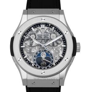 HUBLOT Classic Fusion 547.NX.0170.LR Skeleton Dial Men's Watch Genuine