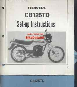 Honda-CB125TD-C-Superdream-82-86-Genuine-PDI-Set-Up-Manual-CB-125-T-TD-AV34