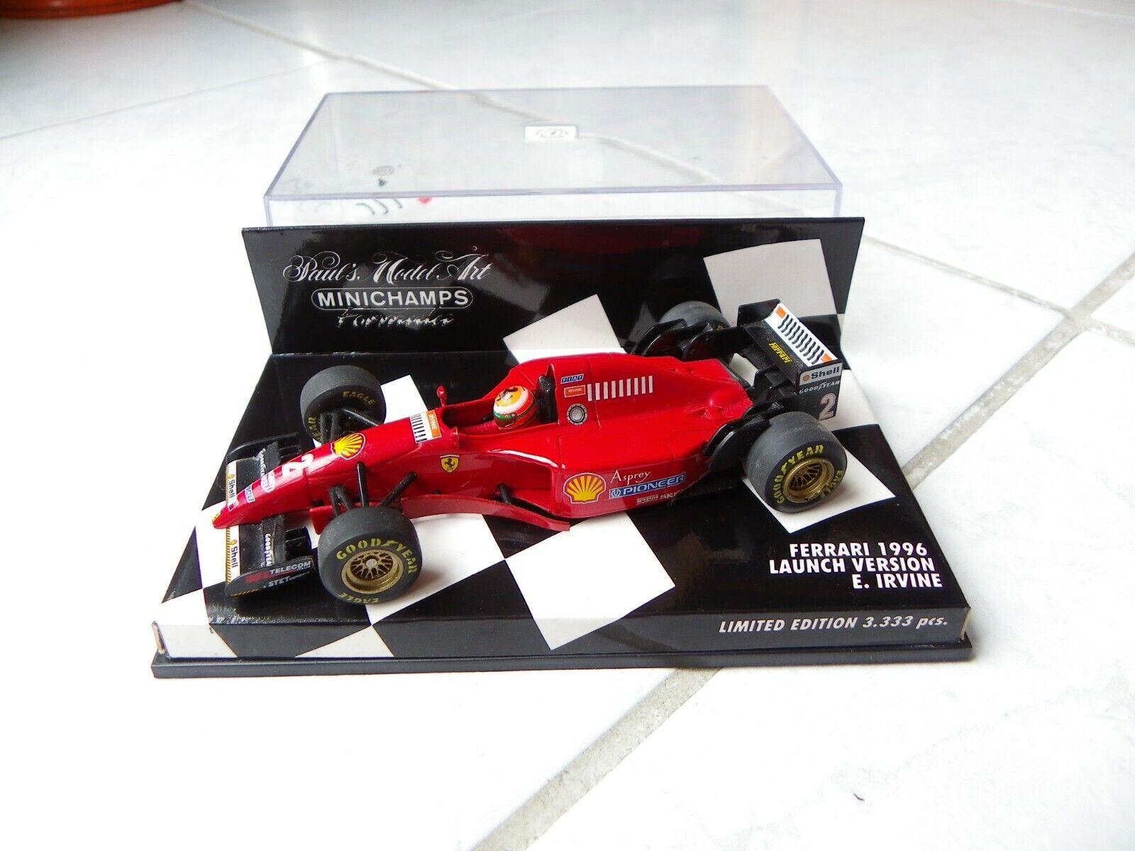 Ferrari 412 Launch Version 1996 Eddie Irvine Minichamps 1 43 F1 Formula 1