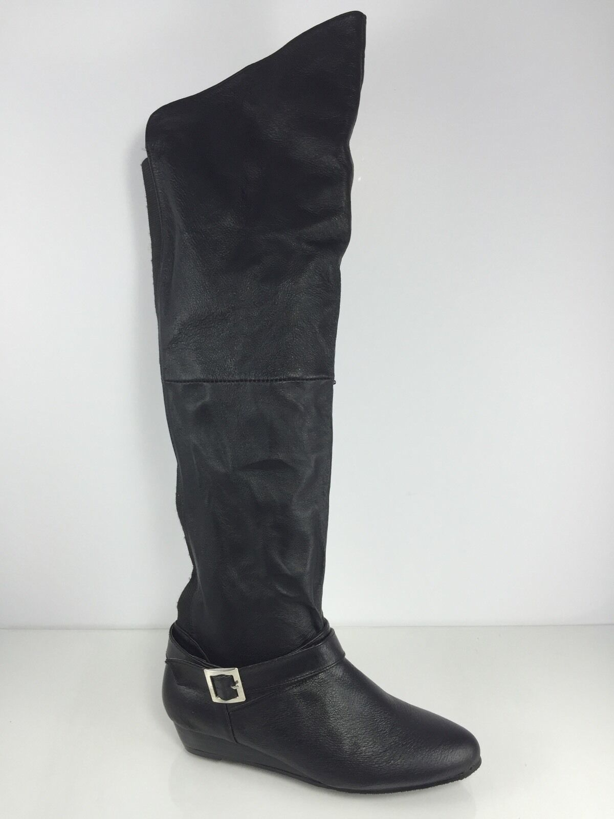 Chinese Laundry Womens Black Leather Boots 6