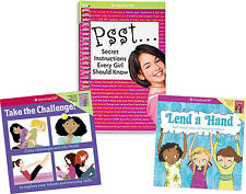 American Girl BOOK SET TAKE THE CHALLENGE, LEND A HAND, PSST SECRET INSTRUCTIONS