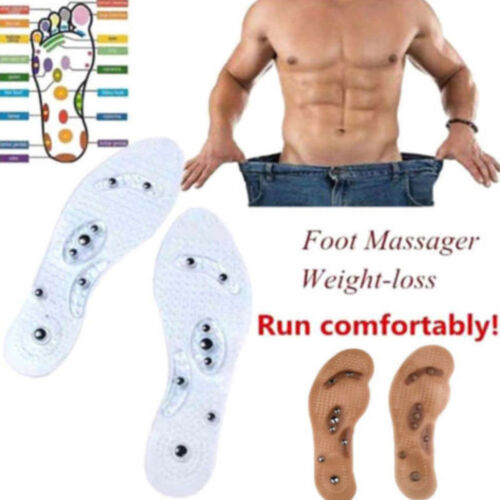 Magnetic Shoe Insole Insoles Acupressure Massage Reduce Foot Odor 1 Pair