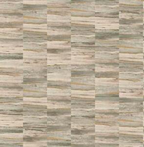Details Sur Fd24905 Artisan Metalique Bois Vert Or Fine Decor Papier Peint