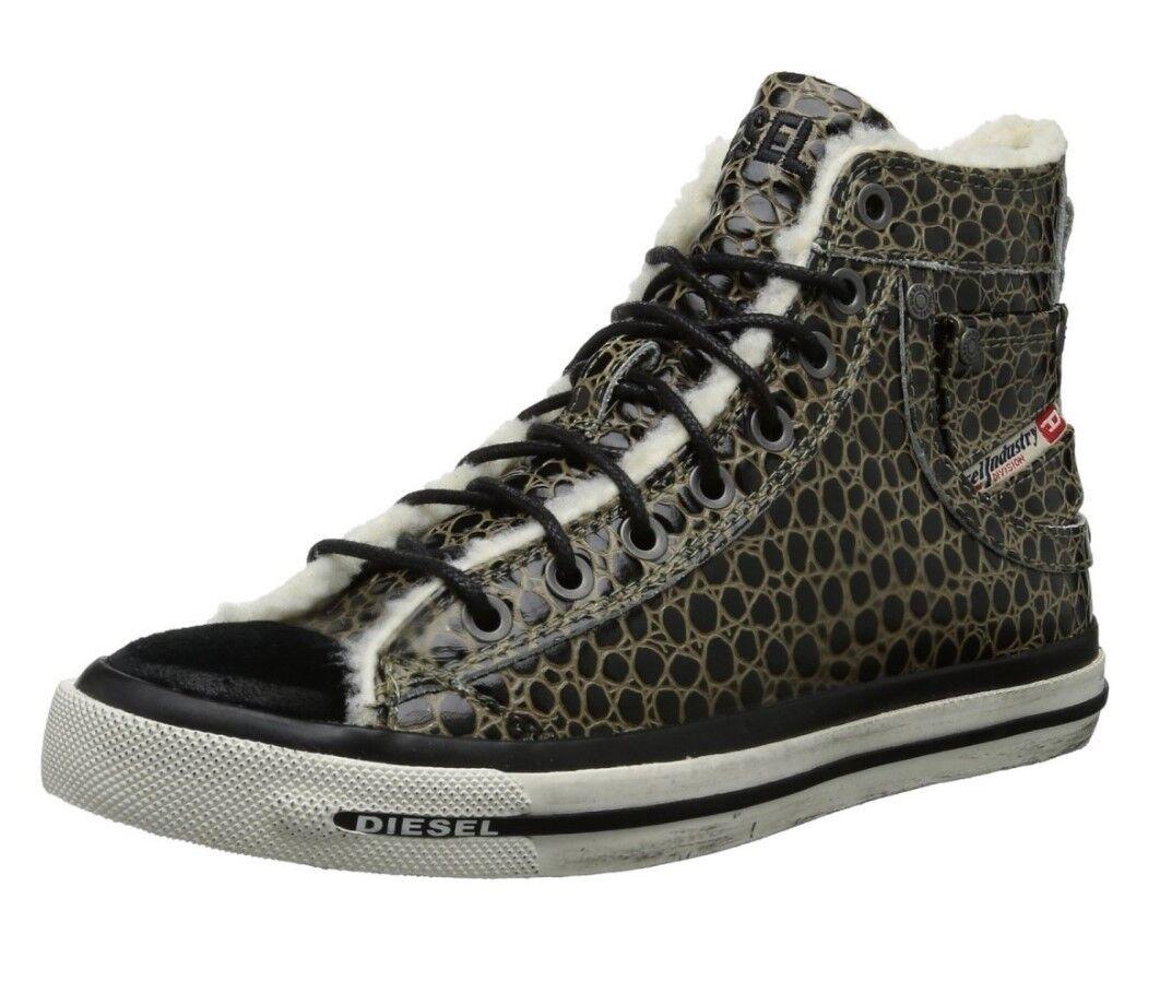 Diesel Aimants Exposure IV w Femmes Hi cuir baskets Chuck Chaussures de sport