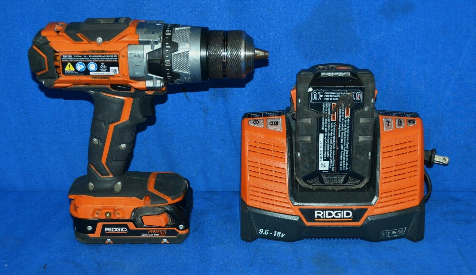Ridgid R8611503 GEN5X 18V Lithium Hammer Drill with Charger & 2 batteries