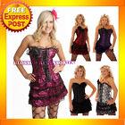 Z5 Burlesque Boned Moulin Rouge Corset Dress Costume