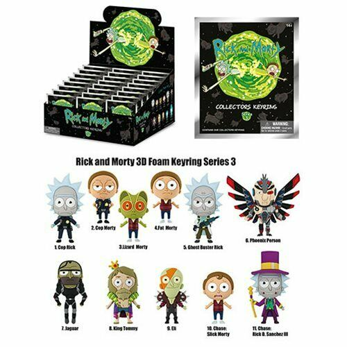 Blind Bag Series 3 Key Chain Ring Rick /& Morty NEW King Tommy Clip