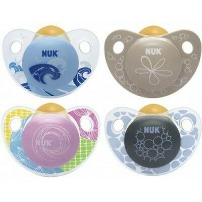 NUK Trendline Silico Adore Soother 2 pack - Size 2 (6 - 18 m) - Purple and Brown