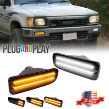 For 95 00 Toyota Tacoma Smoked Switchback White Amber Led Drl Turn Signal Lights Fits 1996 Toyota Tacoma