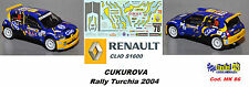 Renault Clio S1600 - CUKUROVA - Rally TURCHIA 2004    - DECAL