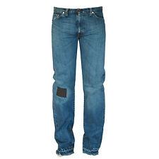 LEVI'S VINTAGE CLOTHING LVC big E selvedge denim leather patch blue jeans 32 NEW